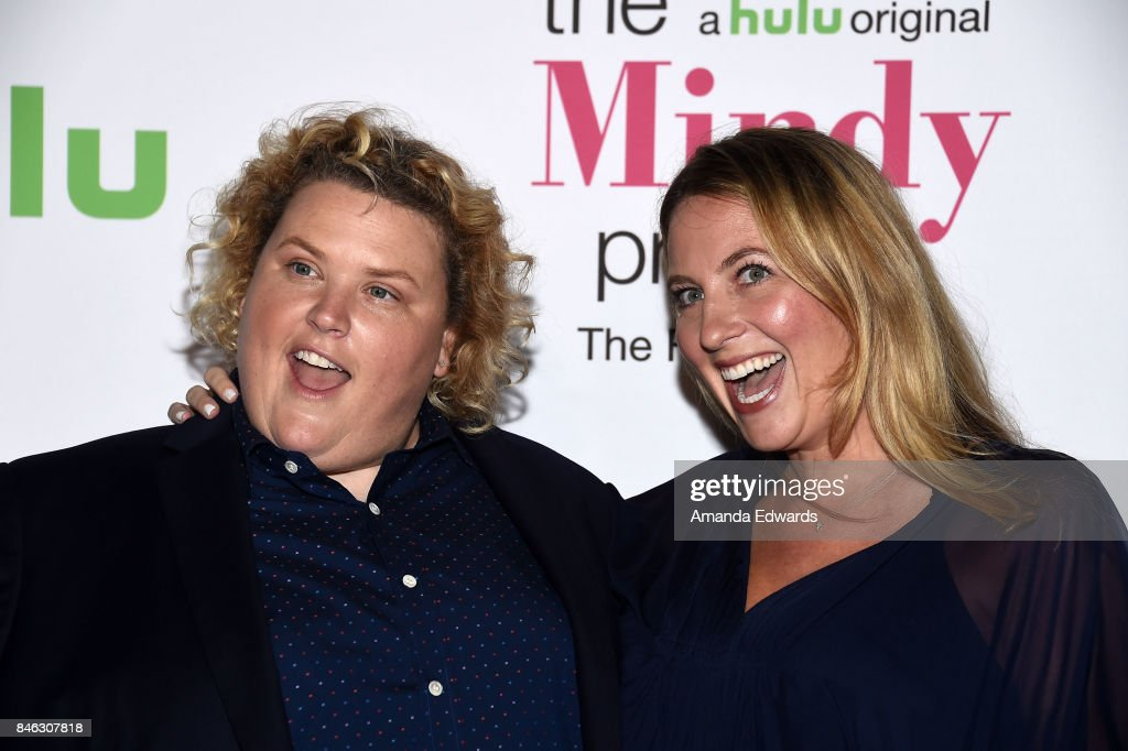 Actress Fortune Feimster (L) and Jacquelyn Smith arrive at Hulu's 'The Mindy Project' Final Season Premiere Party at The London West Hollywood on September 12, 2017 in West Hollywood, California.