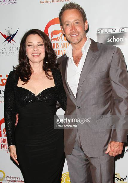 Actress Fran Drescher and Producer Peter Marc Jacobson attend the Paul Mitchell 9th Annual Fundraiser at The Beverly Hilton Hotel on May 7 2012 in...