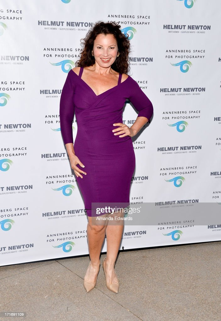 Actress <a gi-track='captionPersonalityLinkClicked' href=/galleries/search?phrase=Fran+Drescher&family=editorial&specificpeople=201602 ng-click='$event.stopPropagation()'>Fran Drescher</a> arrives at The Annenberg Space For Photography exhibit opening for 'Helmut Newton: White Women - Sleepless Nights - Big Nudes' at The Annenberg Space For Photography on June 27, 2013 in Century City, California.