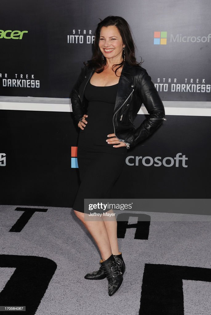 Actress <a gi-track='captionPersonalityLinkClicked' href=/galleries/search?phrase=Fran+Drescher&family=editorial&specificpeople=201602 ng-click='$event.stopPropagation()'>Fran Drescher</a> arrives at the Los Angeles premiere of 'Star Trek: Into Darkness' at Dolby Theatre on May 14, 2013 in Hollywood, California.