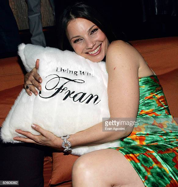 Actress Fran Drescher attends a party for the premiere of her new TV series 'Living With Fran' sponsored by PureRomancecom at Cain Lounge on April 8...