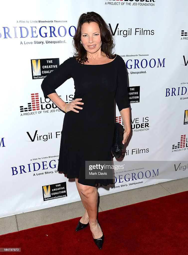 Actress <a gi-track='captionPersonalityLinkClicked' href=/galleries/search?phrase=Fran+Drescher&family=editorial&specificpeople=201602 ng-click='$event.stopPropagation()'>Fran Drescher</a> attends the premiere of 'Bridegroom' held at the AMPAS Samuel Goldwyn Theater on October 15, 2013 in Beverly Hills, California.