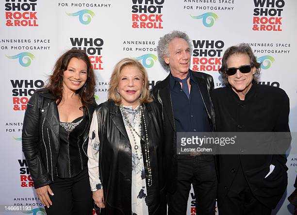 Actress Fran Drescher The Annenberg Foundation President and Chairman of the Board Wallis Annenberg Photographer Bob Gruen and actor Richard Lewis...