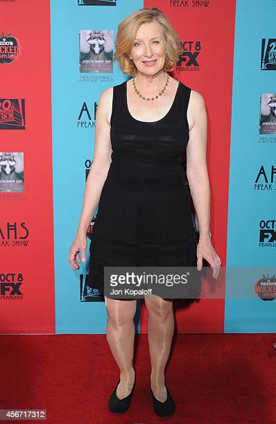 Actress Frances Conroy arrives at the Los Angeles Premiere 'American Horror Story Freak Show' at TCL Chinese Theatre IMAX on October 5 2014 in...