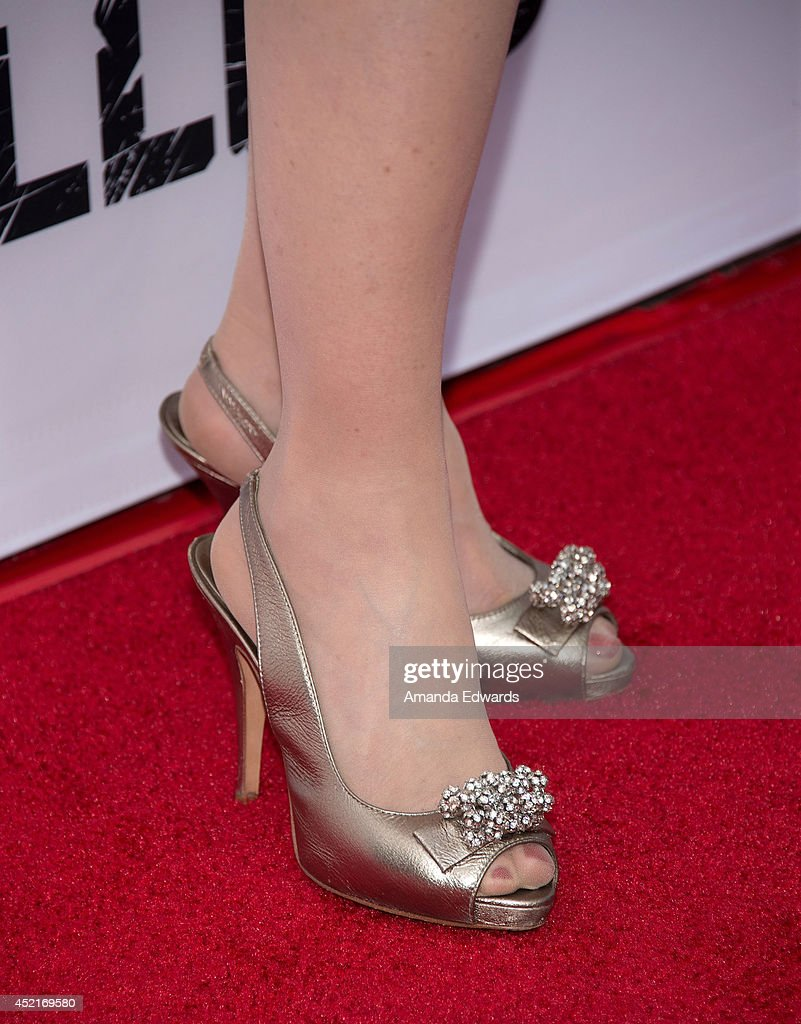 Actress <a gi-track='captionPersonalityLinkClicked' href=/galleries/search?phrase=Frances+Fisher&family=editorial&specificpeople=211520 ng-click='$event.stopPropagation()'>Frances Fisher</a> (shoe detail) arrives at the Los Angeles premiere of Season 4 of the Netflix Original Series 'The Killing' at ArcLight Hollywood on July 14, 2014 in Hollywood, California.