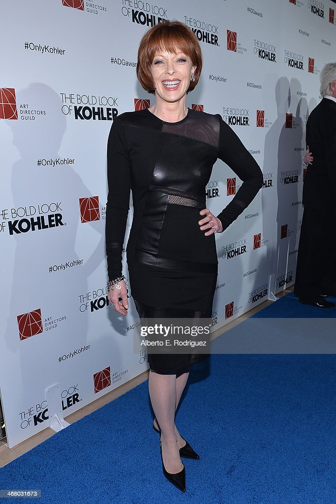 Actress <a gi-track='captionPersonalityLinkClicked' href=/galleries/search?phrase=Frances+Fisher&family=editorial&specificpeople=211520 ng-click='$event.stopPropagation()'>Frances Fisher</a> arrives to the 18th Annual Art Directors Guild Exellence In Production Design Awards at The Beverly Hilton Hotel on February 8, 2014 in Beverly Hills, California.