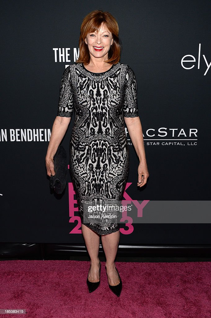 Actress <a gi-track='captionPersonalityLinkClicked' href=/galleries/search?phrase=Frances+Fisher&family=editorial&specificpeople=211520 ng-click='$event.stopPropagation()'>Frances Fisher</a> attends Elyse Walker Presents The Pink Party 2013 hosted by Anne Hathaway at Barker Hangar on October 19, 2013 in Santa Monica, California.