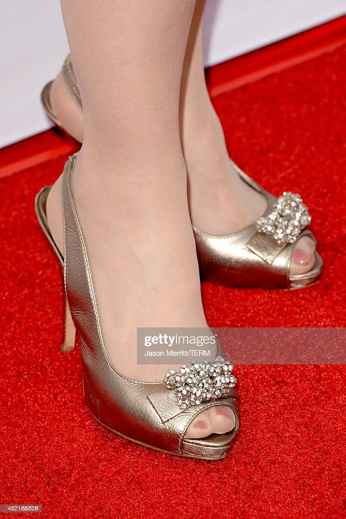 Actress <a gi-track='captionPersonalityLinkClicked' href=/galleries/search?phrase=Frances+Fisher&family=editorial&specificpeople=211520 ng-click='$event.stopPropagation()'>Frances Fisher</a> (shoe detail) attends premiere of Netflix's 'The Killing' season 4 at ArcLight Cinemas on July 14, 2014 in Hollywood, California.