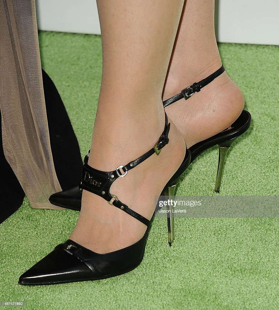Actress <a gi-track='captionPersonalityLinkClicked' href=/galleries/search?phrase=Frances+Fisher&family=editorial&specificpeople=211520 ng-click='$event.stopPropagation()'>Frances Fisher</a> (shoe detail) attends the 2014 Environmental Media Awards at Warner Bros. Studios on October 18, 2014 in Burbank, California.