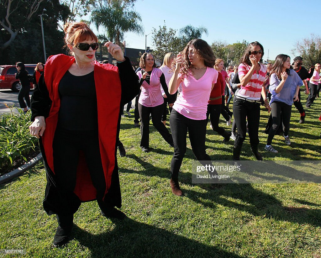 Actress Frances Fisher (L) attends the kick-off for One Billion Rising in West Hollywood on February 14, 2013 in West Hollywood, California.