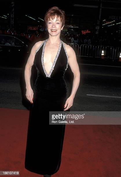 Actress Frances Fisher attends the 'Titanic' Hollywood Premiere on December 14 1997 at Mann's Chinese Theatre in Hollywood California
