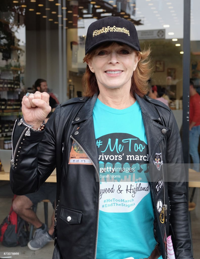 Actress Frances Fisher participates in the Take Back The Workplace March and #MeToo Survivors March & Rally on November 12, 2017 in Hollywood, California.