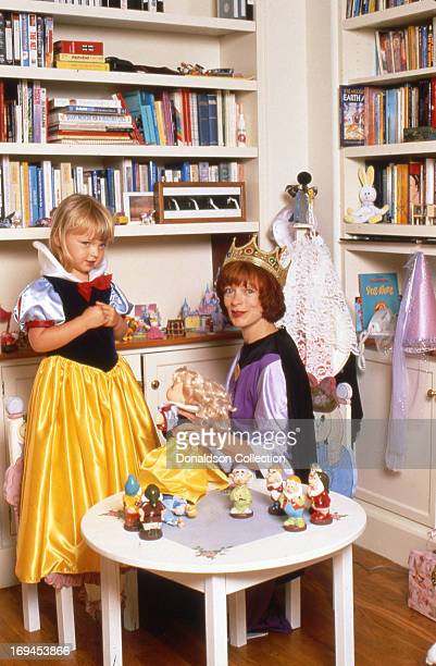 Actress Frances Fisher poses for a portrait session with her daughter Francesca FisherEastwood at home in 1996 in Los Angeles California