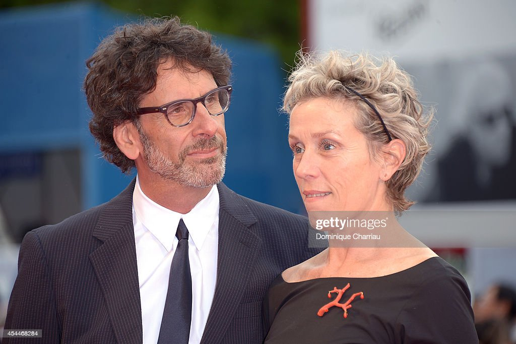 Actress <a gi-track='captionPersonalityLinkClicked' href=/galleries/search?phrase=Frances+McDormand&family=editorial&specificpeople=239024 ng-click='$event.stopPropagation()'>Frances McDormand</a> and husband director <a gi-track='captionPersonalityLinkClicked' href=/galleries/search?phrase=Joel+Coen&family=editorial&specificpeople=4292064 ng-click='$event.stopPropagation()'>Joel Coen</a> attend the 'Olive Kitteridge Parts 1-2' premiere during the 71st Venice Film Festival at Sala Grande on September 1, 2014 in Venice, Italy.