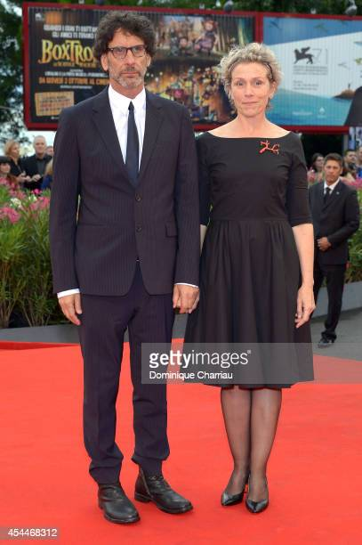Actress Frances McDormand and husband director Joel Coen attend the 'Olive Kitteridge Parts 12' premiere during the 71st Venice Film Festival at Sala...