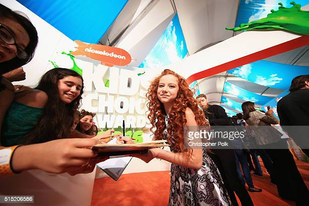 Actress Francesca Capaldi attends Nickelodeon's 2016 Kids' Choice Awards at The Forum on March 12 2016 in Inglewood California