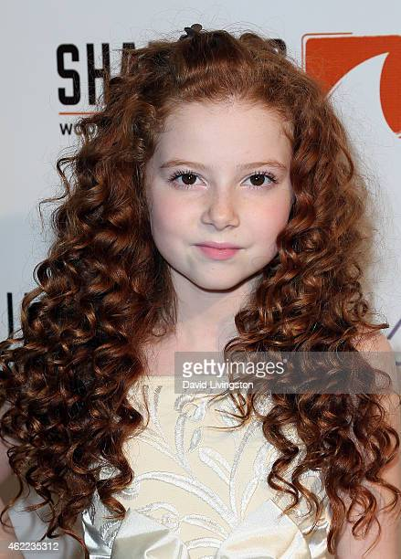 Actress Francesca Capaldi attends Paris Berelc's 'Sweet Sixteen' birthday party at The Loft and Rooftop Wet Deck at W Hollywood on January 25 2015 in...