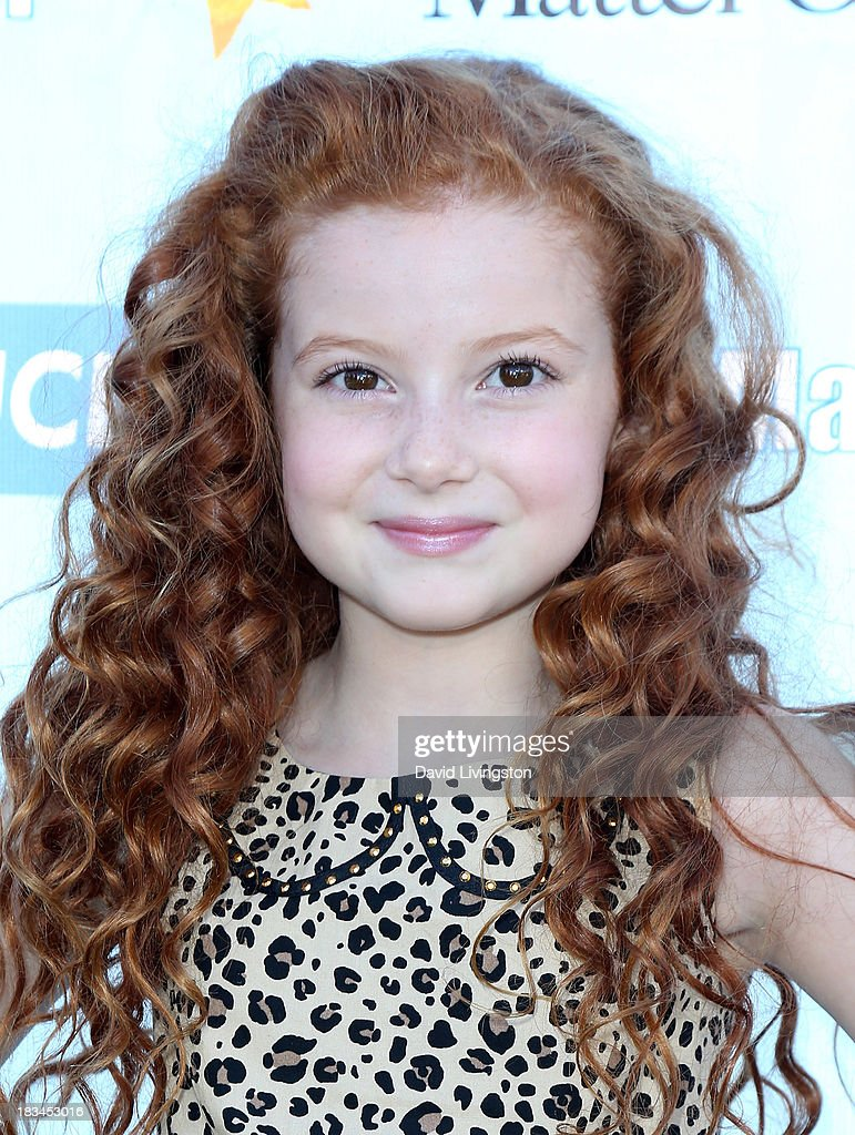 Actress Francesca Capaldi attends the 14th annual Mattel Party on the Pier benefiting Mattel Children's Hospital UCLA at Pacific Park on the Santa Monica Pier on October 6, 2013 in Santa Monica, California.