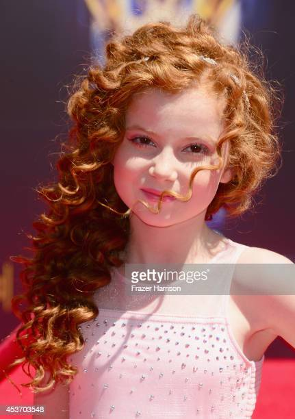 Actress Francesca Capaldi attends the 2014 Creative Arts Emmy Awards at Nokia Theatre LA Live on August 16 2014 in Los Angeles California
