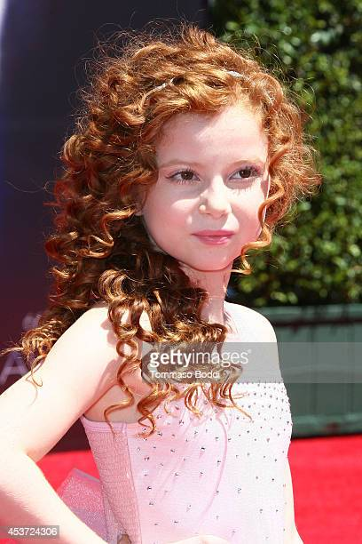 Actress Francesca Capaldi attends the 2014 Creative Arts Emmy Awards held at the Nokia Theatre LA Live on August 16 2014 in Los Angeles California