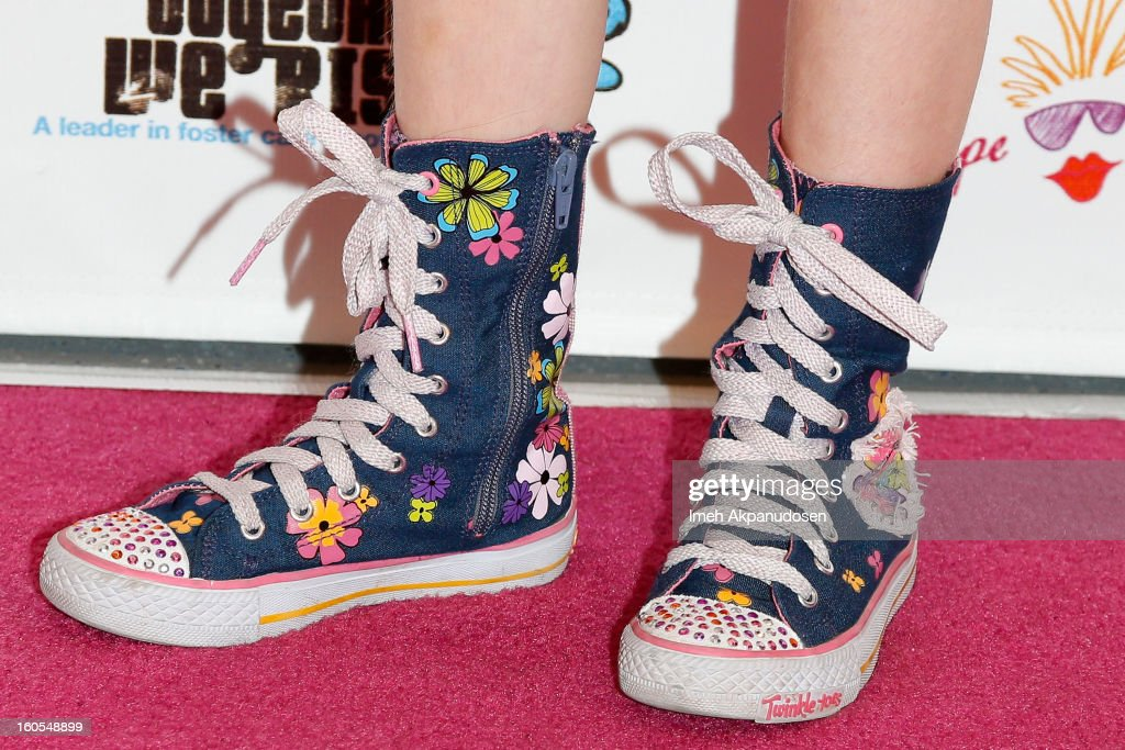 Actress Francesca Capaldi (shoe detail) attends the 4th Annual Tutus4Tots Event at Together We Rise on February 2, 2013 in Chino, California.