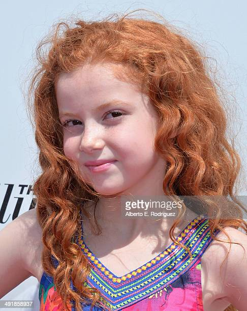 Actress Francesca Capaldi attends the Ovarian Cancer Research Fund's Inaugural Super Saturday LA hosted by Molly Sims and Rachel Zoe at Barker Hangar...