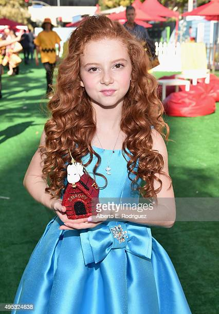 Actress Francesca Capaldi attends the premiere of 20th Century Fox's 'The Peanuts Movie' at The Regency Village Theatre on November 1 2015 in...