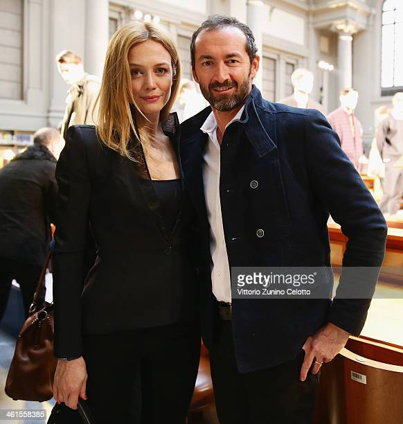 Actress Francesca Cavallin and husband Stefano Remigi attend N21 Presentation during Pitti Immagine Uomo 85 on January 9 2014 in Florence Italy