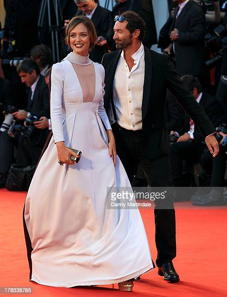 Actress Francesca Cavallin and Stefano Remigi attend the 'Tracks' Premiere during the 70th Venice International Film Festival on August 29 2013 in...