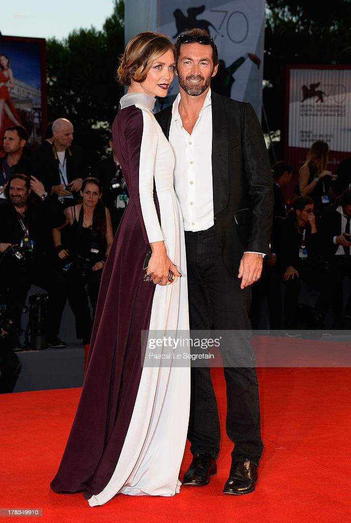 Actress Francesca Cavallin and Stefano Remigi attend the 'Tracks' premiere during the 70th Venice International Film Festival at the Palazzo del Cinema on August 29, 2013 in Venice, Italy.