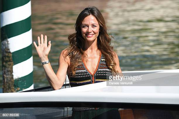 Actress Francesca Cavallin arrives at Lido during the 73rd Venice Film Festival on September 8 2016 in Venice Italy
