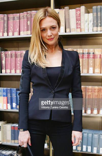 Actress Francesca Cavallin attends N21 Presentation during Pitti Immagine Uomo 85 on January 9 2014 in Florence Italy