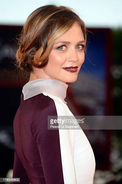 Actress Francesca Cavallin attends the 'Tracks' premiere during the 70th Venice International Film Festival at the Palazzo del Cinema on August 29...