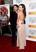 Actress Francesca Eastwood and actor Clifton Collins Jr arrive at the premiere of Momentum Pictures' 'Outlaws and Angels' at the Ahrya Fine Arts...