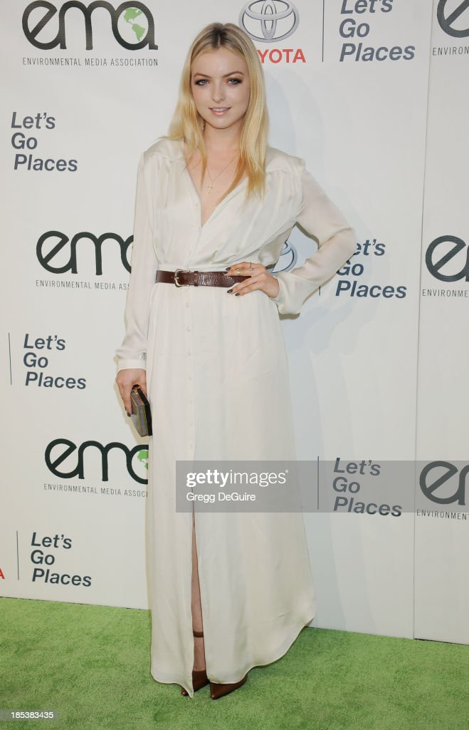 Actress Francesca Eastwood arrives at the 2013 Environmental Media Awards at Warner Bros. Studios on October 19, 2013 in Burbank, California.