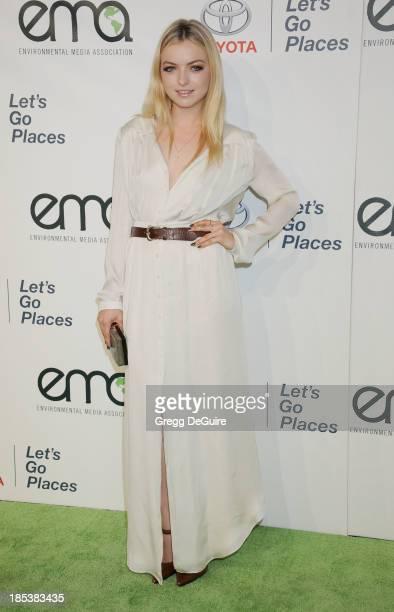 Actress Francesca Eastwood arrives at the 2013 Environmental Media Awards at Warner Bros Studios on October 19 2013 in Burbank California