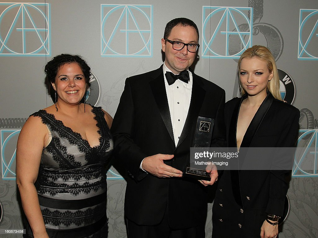 Actress Francesca Eastwood (R), Assistant Art Director Gloria Lamb and Art Director Joe Celli, winner of the award for Excellence in Production Design for an Awards, Music or Game Show 2012 - The 84th Annual Academy Awards, backstage at The 17th Annual Art Directors Guild Awards held at the Beverly Hilton Hotel on February 2, 2013 in Beverly Hills, California.