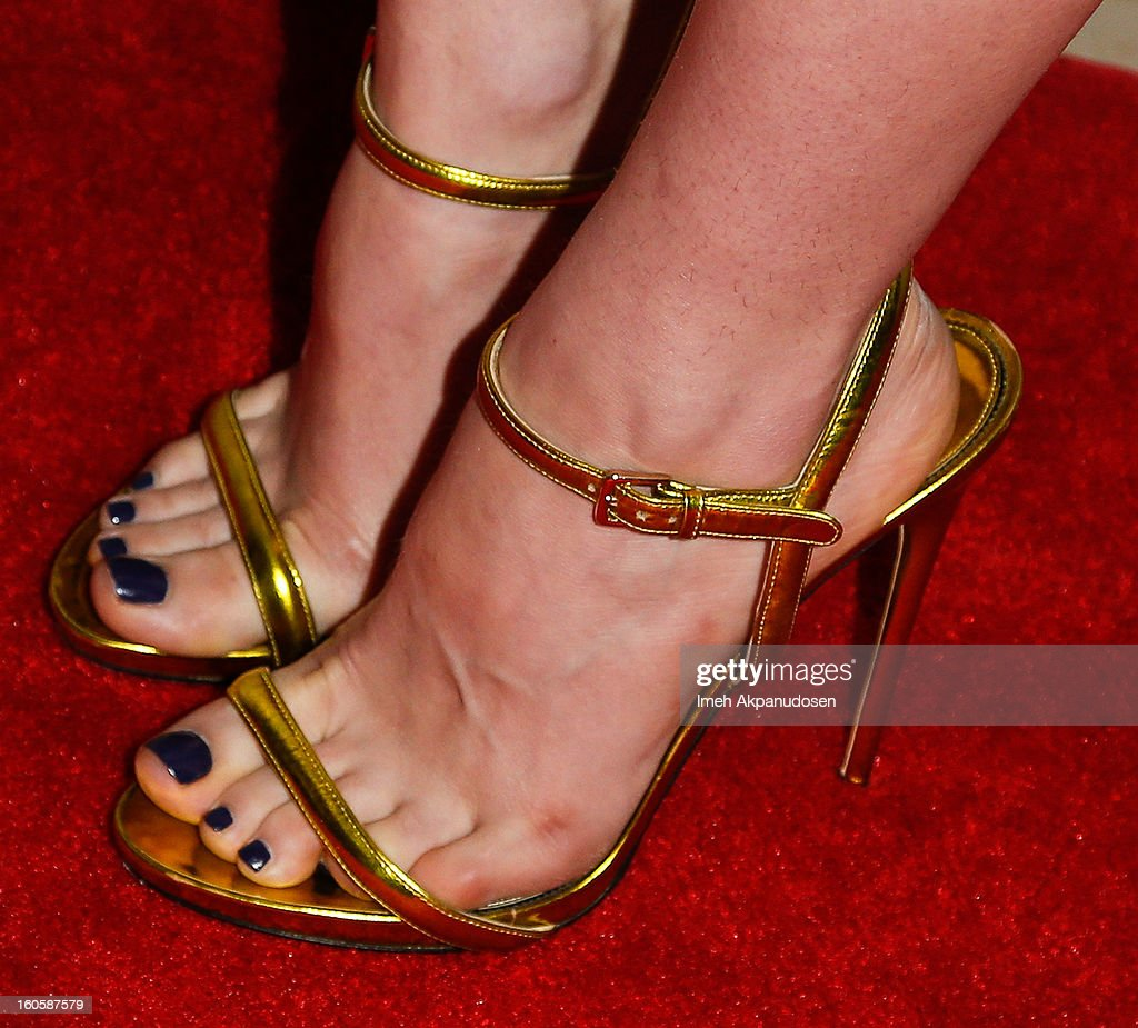 Actress Francesca Eastwood (shoe detail) attends the 17th Annual Art Directors Guild Awards For Excellence In Production Design at The Beverly Hilton Hotel on February 2, 2013 in Beverly Hills, California.