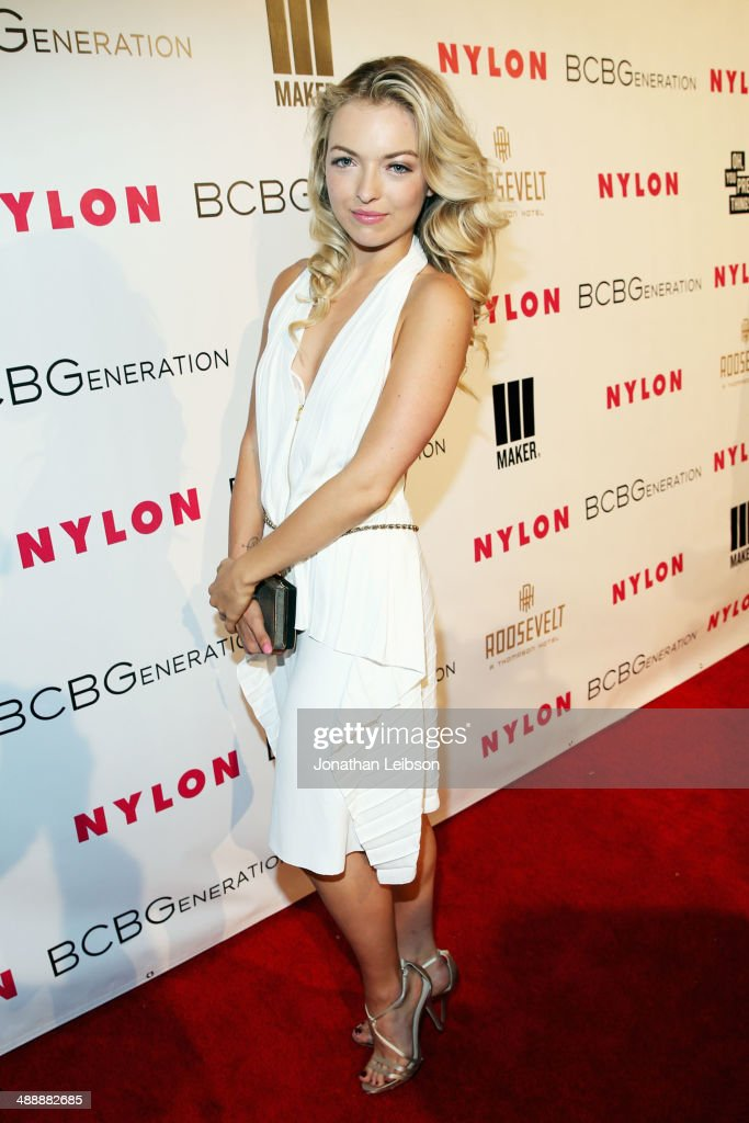 Actress Francesca Eastwood attends the Nylon + BCBGeneration May Young Hollywood Party at Hollywood Roosevelt Hotel on May 8, 2014 in Hollywood, California.