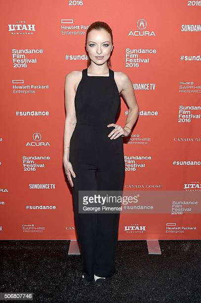 Actress Francesca Eastwood attends the 'Outlaws Angels' Premiere during the 2016 Sundance Film Festival at Library Center Theater on January 25 2016...