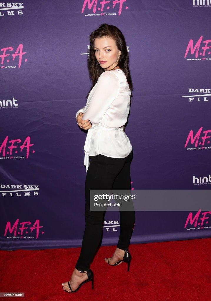 "Premiere Of Dark Sky Films' ""M.F.A."" - Arrivals"
