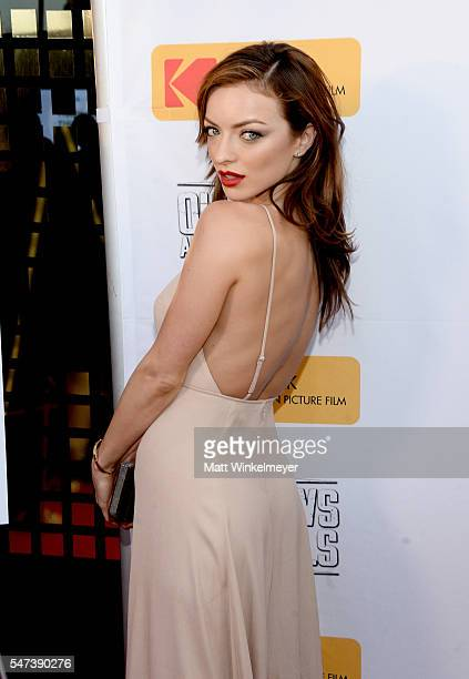 Actress Francesca Eastwood attends the premiere of Momentum Pictures' 'Outlaws And Angels' at Ahrya Fine Arts Movie Theater on July 12 2016 in...