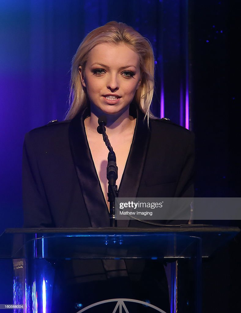 Actress Francesca Eastwood onstage at The 17th Annual Art Directors Guild Awards, held at the Beverly Hilton Hotel on February 2, 2013 in Beverly Hills, California.