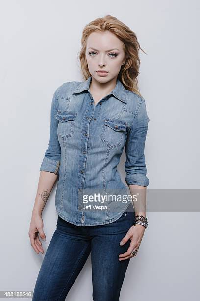 Actress Francesca Eastwood poses for a portrait at the 2015 Toronto Film Festival at the TIFF Bell Lightbox on September 12 2015 in Toronto Ontario