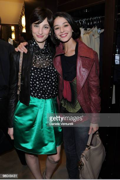 Actress Francesca Inaudi and Nicole Giraudo attend the Ester Maria Rivaroli Flagship Store Opening on March 25 2010 in Rome Italy