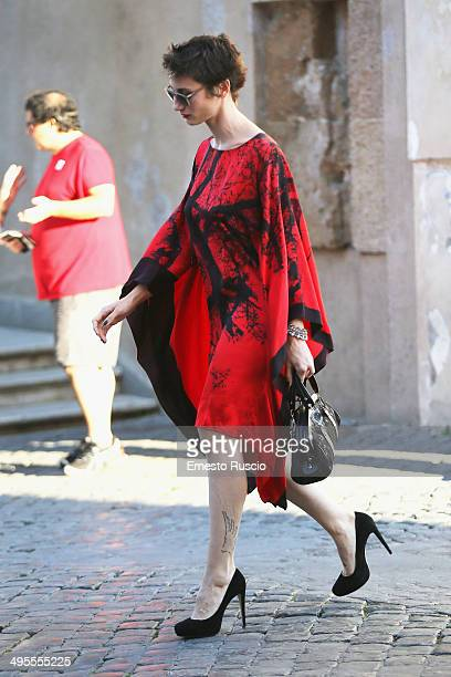 Actress Francesca Inaudi attends the 'Ciak D'Oro Awards' arrivals at Piazza Campidoglio on June 3 2014 in Rome Italy