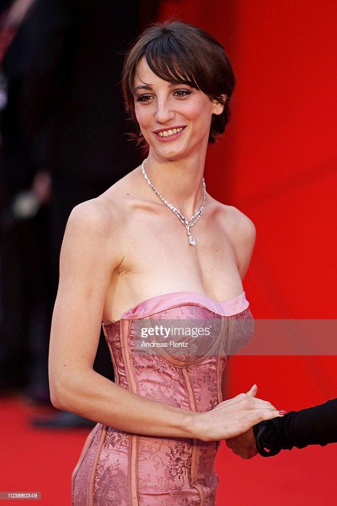 Actress Francesca Inaudi attends the 'Noi Credevamo' premiere during the 67th Venice Film Festival at the Sala Grande Palazzo Del Cinema on September 7, 2010 in Venice, Italy.