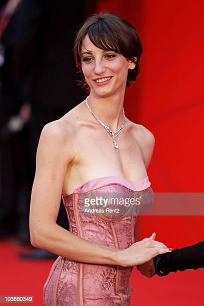 Actress Francesca Inaudi attends the 'Noi Credevamo' premiere during the 67th Venice Film Festival at the Sala Grande Palazzo Del Cinema on September...