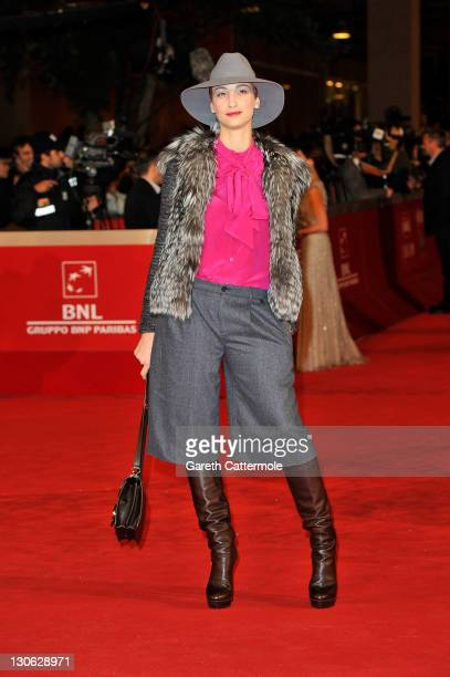 Actress Francesca Inaudi attends the 'The Lady' Premiere and Opening Ceremony during 6th International Rome Film Festival on October 27 2011 in Rome...