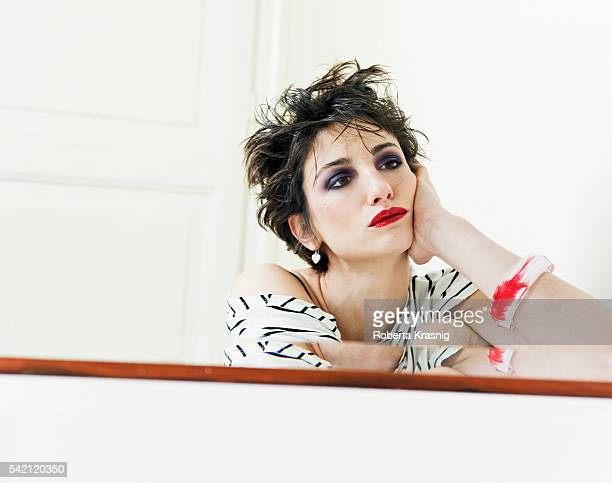 Actress Francesca Inaudi is photographed for Self Assignment on March 16 2010 in Rome Italy